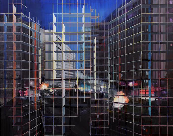 Lueurs pour la nuit, 2010. 190x240cm oil on canvas