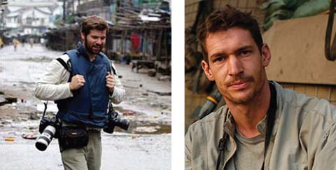 Chris Hondros (left) and Tim Hetherington (right)