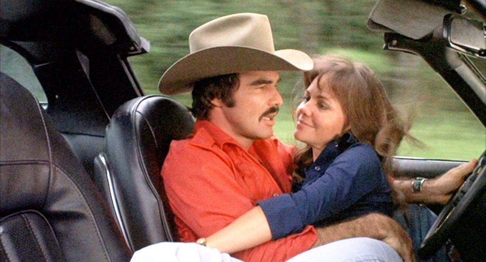 Burt Reynolds and Sally Field in Smokey and the Bandit (1977)