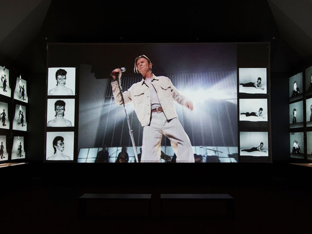 """Installation image of """"David Bowie is"""" at the Brooklyn Museum. Courtesy of the Brooklyn Museum/Jonthan Dorado"""
