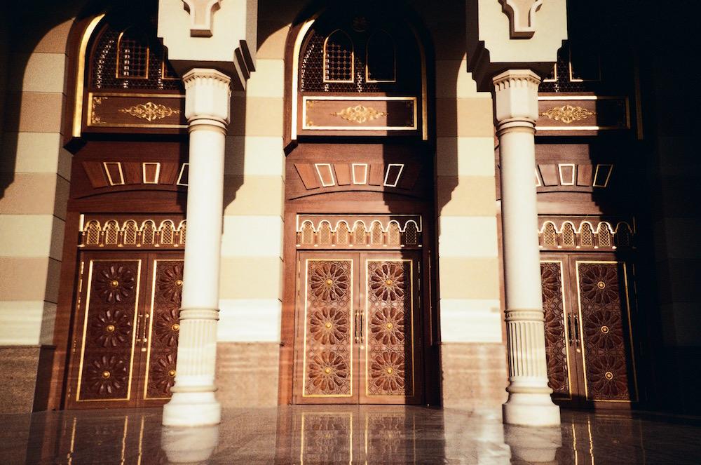 Jan 23 - Entrance of Africa Hall, Sharjah