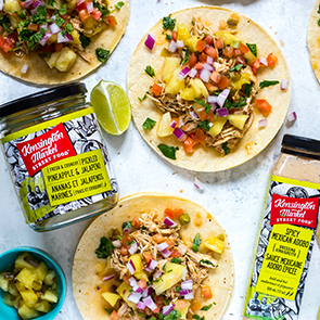 CROCKPOT CHICKEN TACOS WITH PINEAPPLE SALSA   Whether you're entertaining a crowd or simply meal prepping for the week, these tacos are bursting with fresh flavours and zing from the spices. Check out the recipe at   thegirlonbloor.com  !