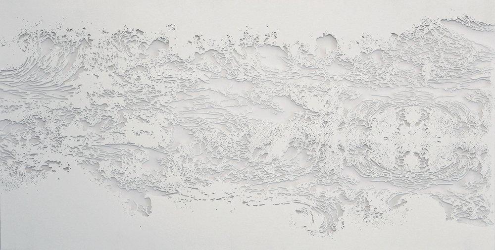 Cap-O,  2015, hand cut paper, 15 X 30 in.