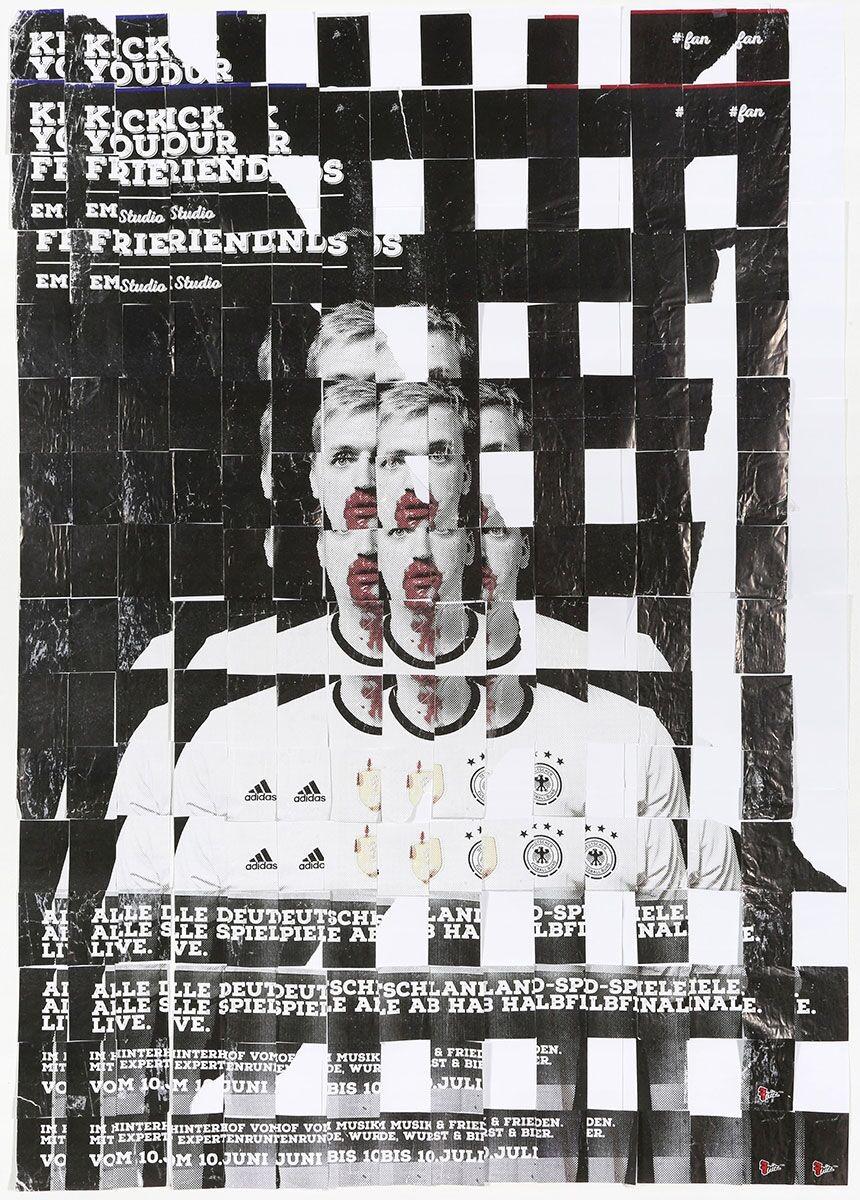 Galen Gibson-Cornell,  Kick Your Friends , 2016, cut paper