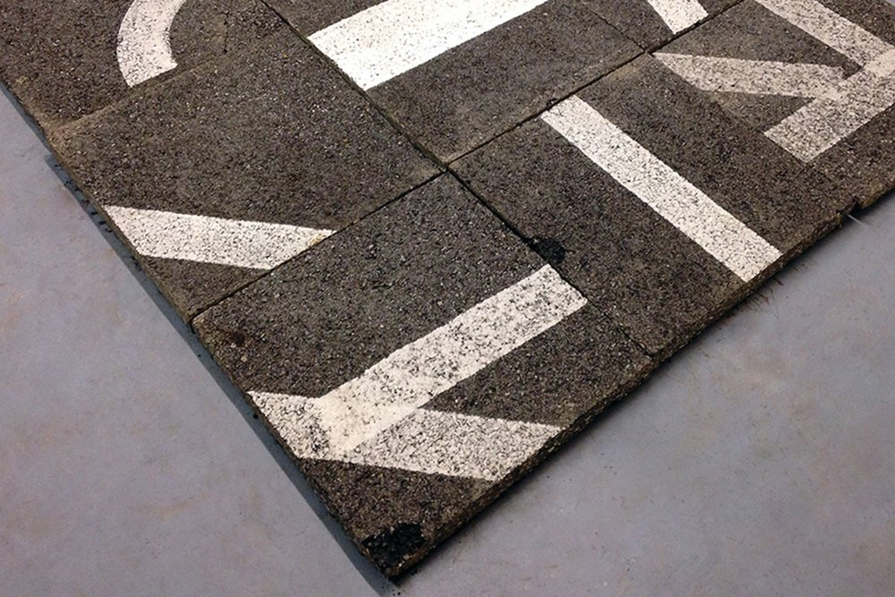 Kyle Downs,  (E)arth Flat , cut asphalt