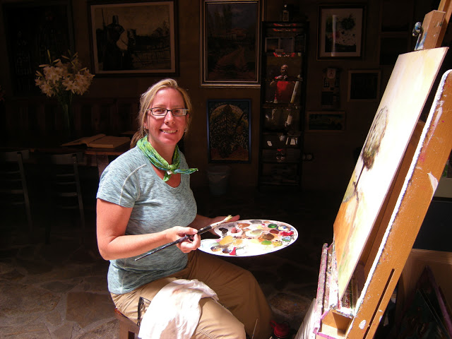 A quick painting at an alberque in Hospital D'Orbigo, Spain, during my walk on the Camino de Santiago in 2012