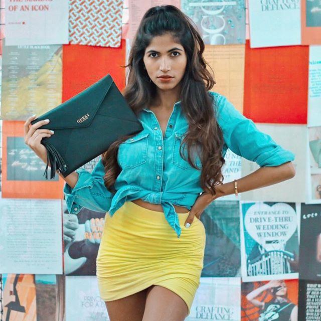 Causal Monday's? ✨ —— Clutch / @guess / #GuessIndia Shirt / @gap Skirt / @zara