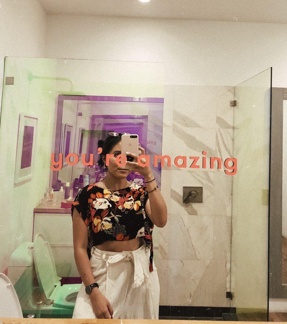 you're amazing mirror selfie