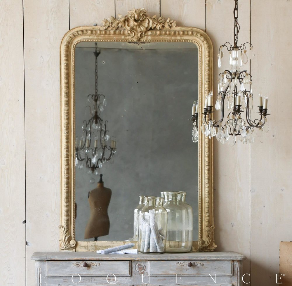 Antiqe French Mirror c.1880 36wx68hx5d.jpg