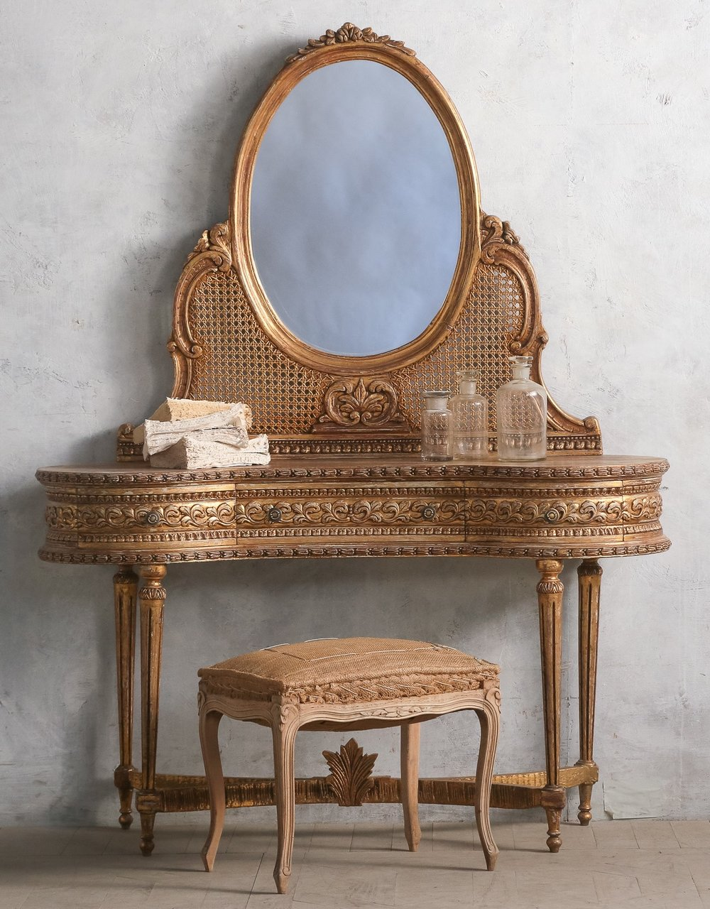 Gold Vintage Vanity, such a unique piece. (France).jpg