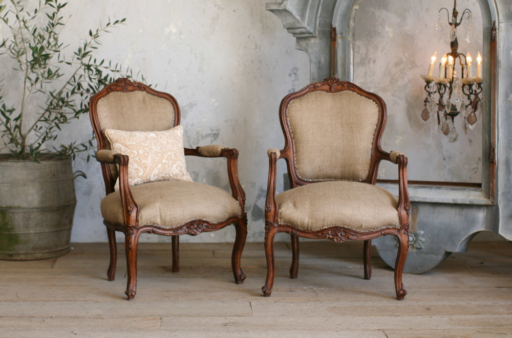 Vintage armchairs grain sacking upholstry jan 2013.jpg