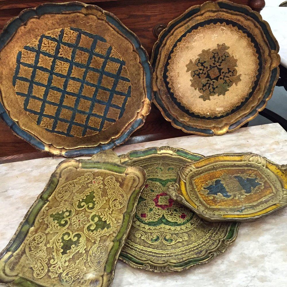 Vintage Italian trays Italy 1950's.JPG