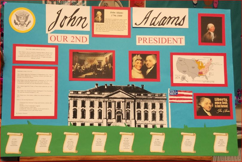 Example of a President's Day Poster