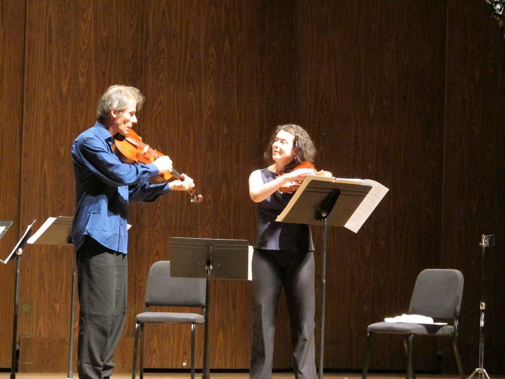 Garth Knox and Melia Watras in performance. Photo by Joanne DePue