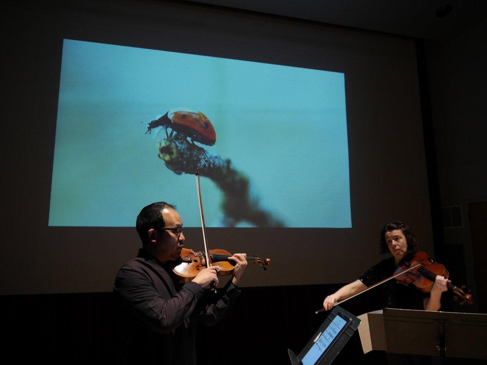 Michael Jinsoo Lim and Melia Watras performing  Liquid Voices  Photo by Martin Jarmick