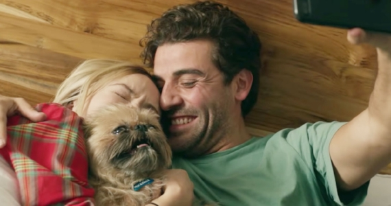 Oscar Issac, Olivia Wilde, and a cute dog in  Life Itself |  FILM NATION ENTERTAINMENT - 2018