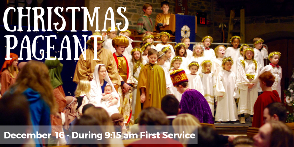 CHRISTMAS PAGEANT | December 16 | During 9:15 am 1st Service.  On December 16th, all of our children are invited to be part of the presentation of the story of Christmas in the annual Christmas Pageant during the 9:15 a.m. worship service. K-5th grade will rehearse during the first part of Sunday School in Westminster Hall on December 2nd and December 9th. The primary, mandatory dress rehearsal for K-5th graders will be Saturday, December 15th from 10:00 a.m. to 12:00 Noon in the Sanctuary. (4-year olds/Pre-K do not need to be present for the dress rehearsal, they will meet for costuming on the morning of the pageant.) Come be part of this memorable telling of the story of Jesus' birth. Questions? Contact Bobb Robinson at  Bobb@chevychasepc.org .