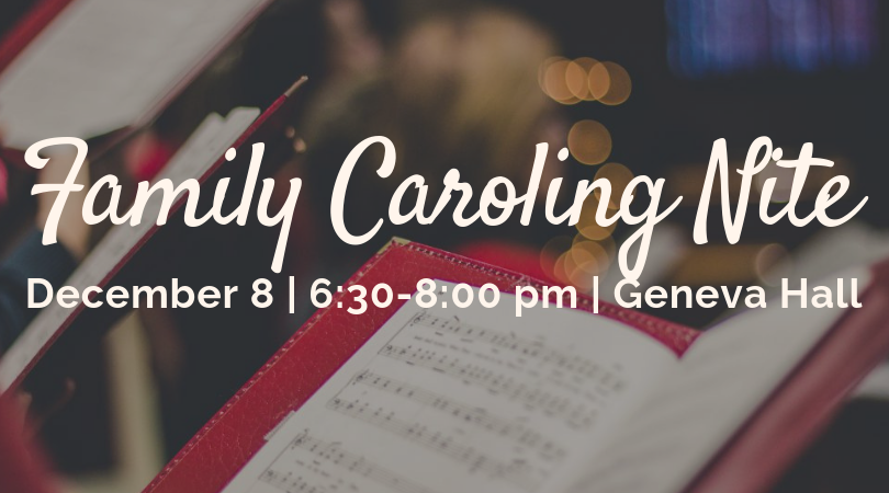 """FAMILY CAROLING NITE  Let's get into the holiday spirit with an evening of Christmas caroling! Karaoke-style, arranged for group sing-along (check out """"Silver Bells"""" at   https://www.youtube.com/watch?v=5n-9rCvtz_M&feature=youtu.be  ) A multi-generational evening to sing carols that some of us have known since childhood, and to pass the tradition along. Christmas attire encouraged—Elf hats & reindeer antlers optional but highly recommended—Refreshments will be served.  Free to all, but donations will be welcome—Proceeds to benefit the Youth Group"""