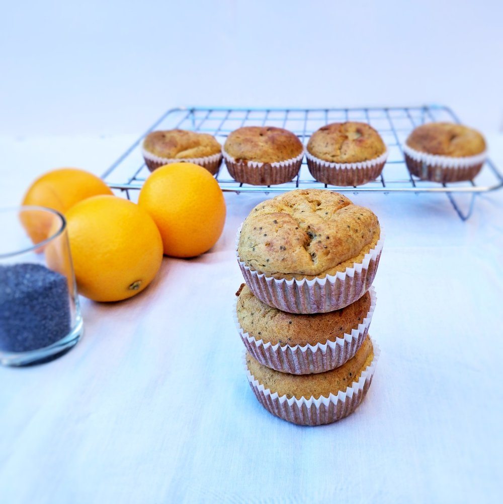 Dairy free soy free poppy seed muffins for toddler kids picky eaters and baby-led weaning