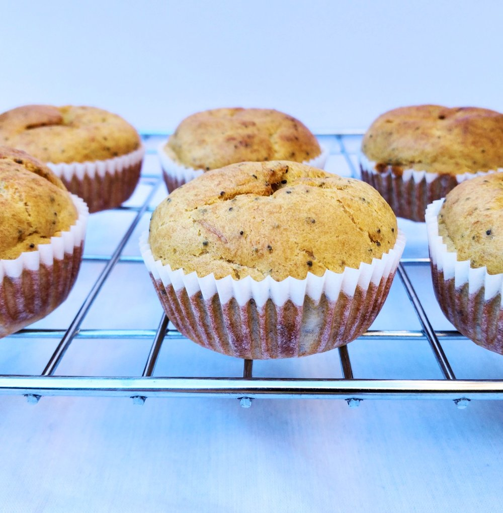 Orange and poppy seed muffins healthy and easy recipe for dairy free toddler and dairy free kids snacks