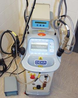 Nd:YAG-Laser für Epilation und Gefäßlaserung
