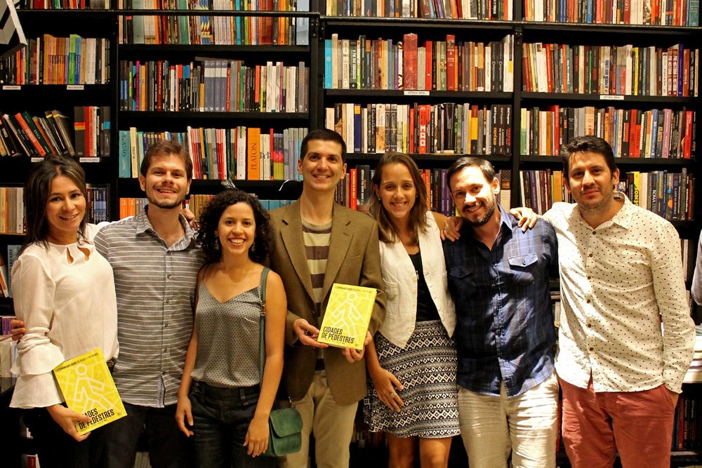 "LABMOB team at the launch of the book ""Cidades de Pedestres"", in Rio de Janeiro (September 2017)"