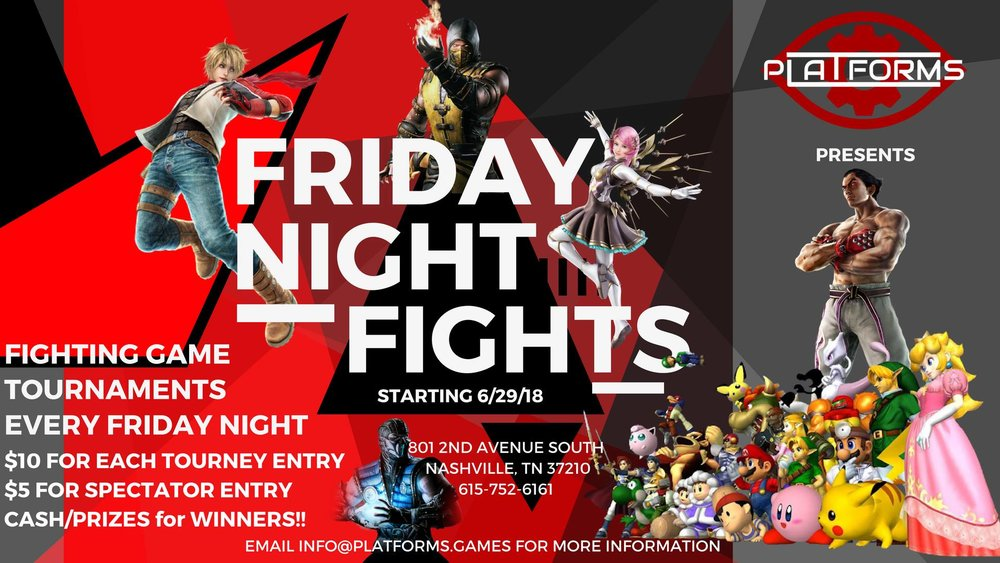 The original Friday Night Fights banner.