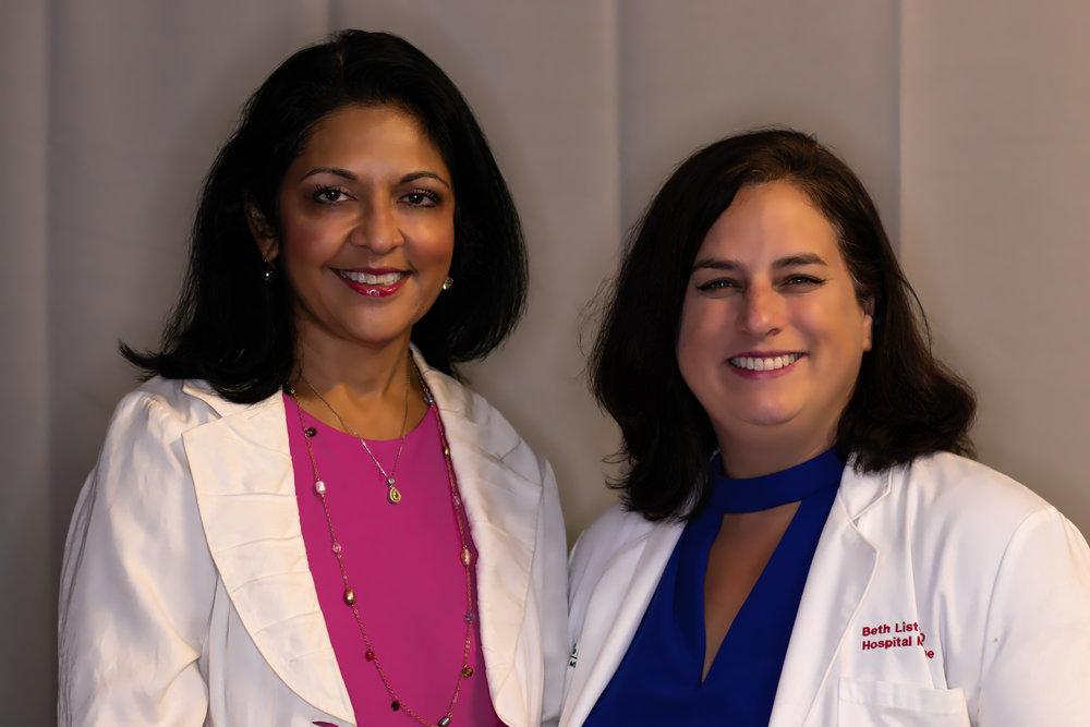 (Left) Dr. Anita Somani, Immediate Past President of the CMA, (Right) Dr. Beth Liston, current CMA President-Elect