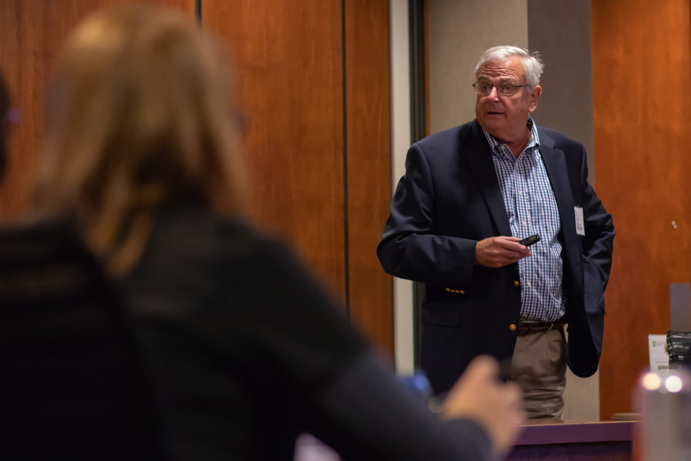 Dr. Phil Cass speaks to CMA Board members during a September luncheon