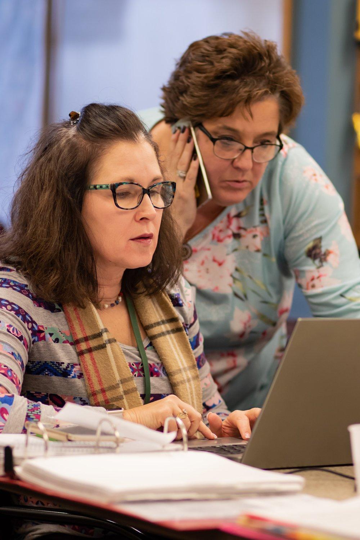 Sherri Kovach (left) and Jodi Keller (right) facilitate RHEP Coalition Surge exercise