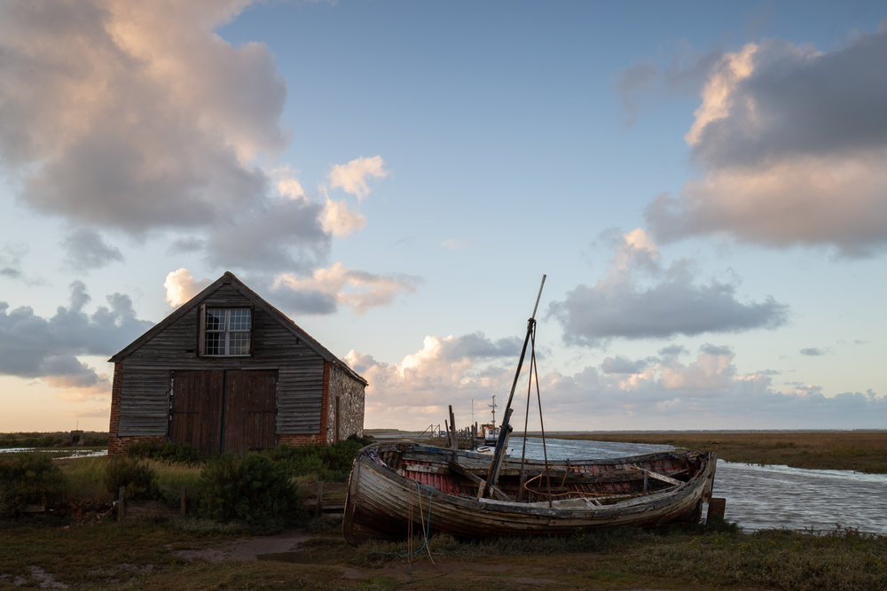 On a slant, Thornham Harbour, Norfolk.
