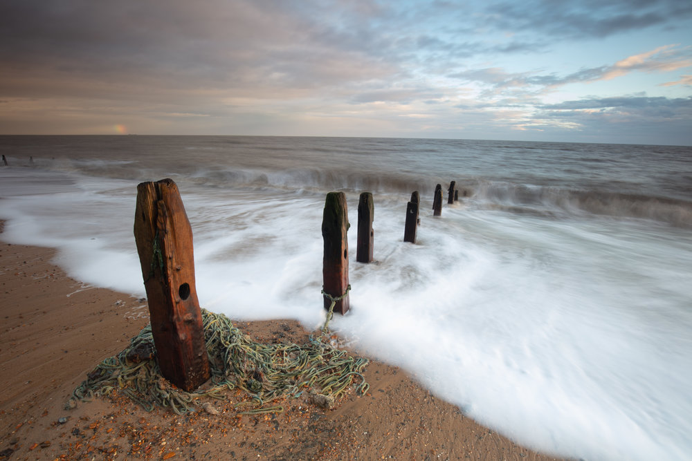Caught up with it all, Bawdsey, Suffolk.