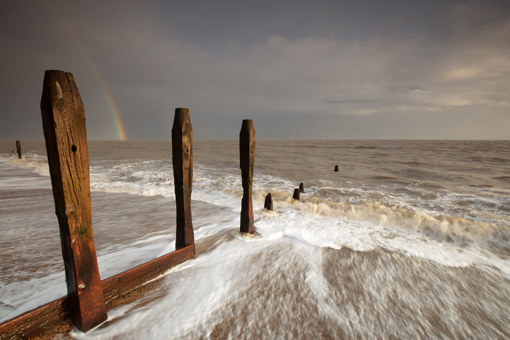 This was that image, after 10 minutes of horrible sidewards rain.. a rainbow appeared!