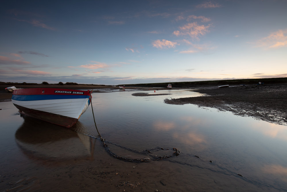 Follow the chain, Burnham-Overy-Staithe, Norfolk.