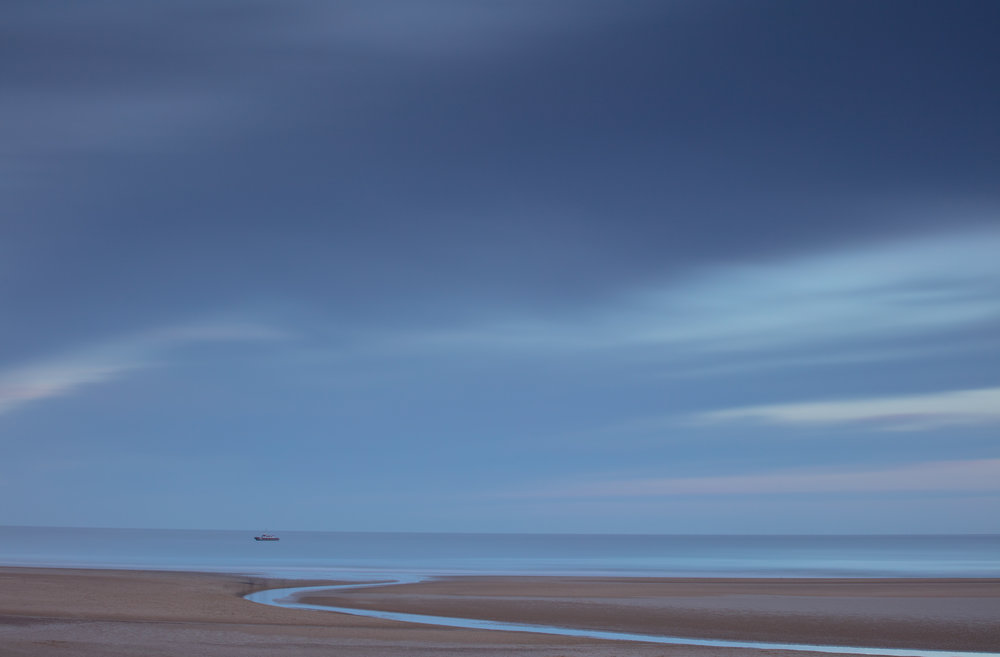 Stretched out, Holkham Beach, Norfolk.