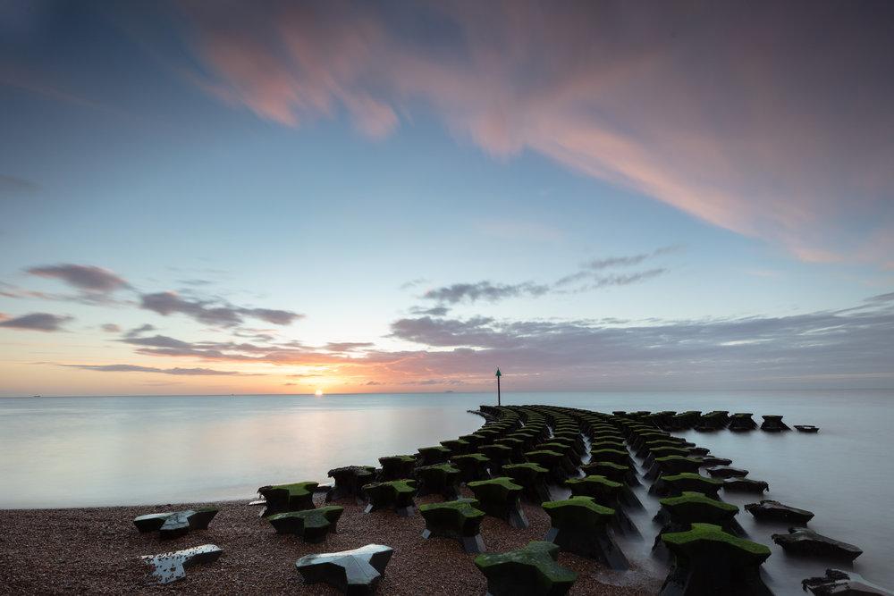 Gone with the wind, Felixstowe, Suffolk.