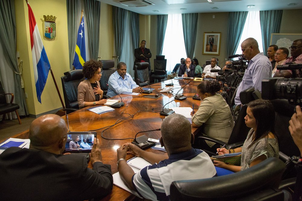 Press conference to Launch the Blue Halo Initiative in Curacao - 2015 - Credit: Daryn Deluco