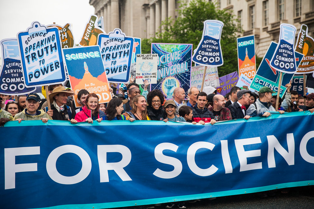 Co-leading the March for Science - Credit: Kisha Bari