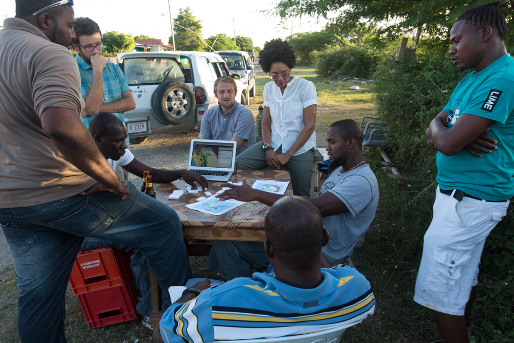 Community consultations for ocean zoning in Barbuda with the Blue Halo Initiative - 2013 - Credit: Will McClintock