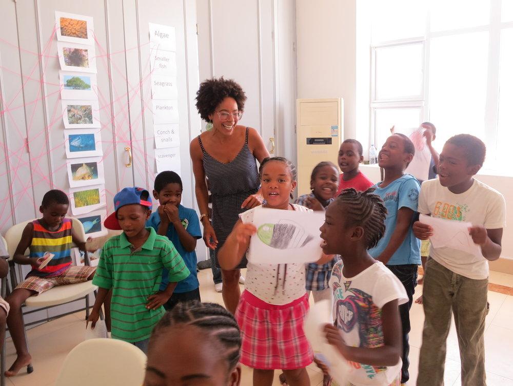 Launching a kids ocean camp in Barbuda - Courtesy: Ayana Elizabeth Johnson
