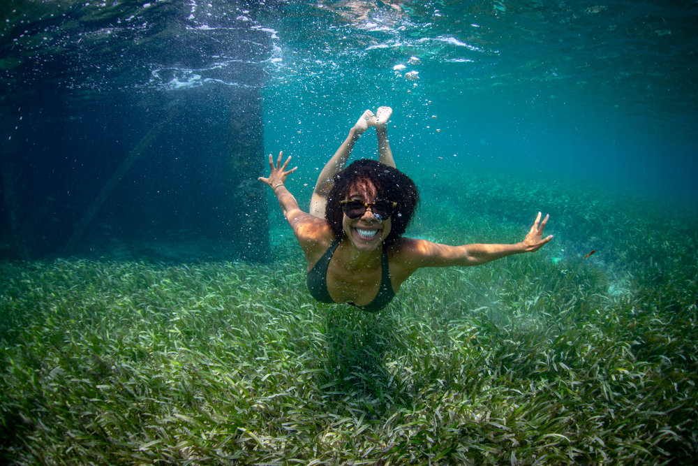 Swimming in Jamaica's seagrass - 2018 - Credit: Jeremy McKane
