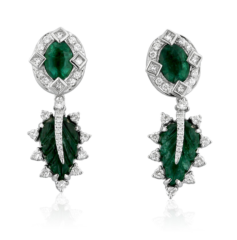 Carved Emerald and Diamond Earrings.jpg