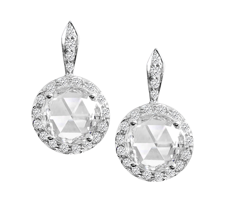 Rose Cut Diamond Earrings.JPG