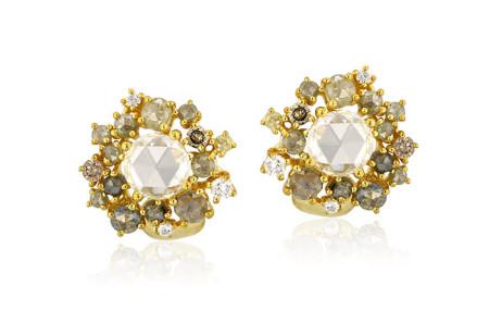Yellow Diamond Cluster Earrings.jpg
