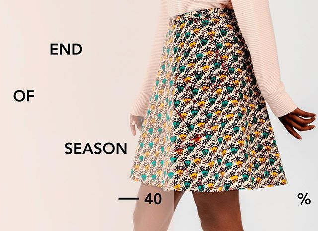 We're having a huge end of  season sale going on now! Head on over to our website for up to 40%!🤗