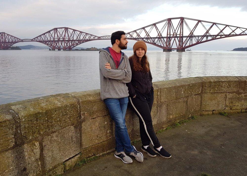 Arantza and Alfredo in Edinburgh