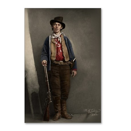 Billy the Kid - entre 1875 et 1880 - Crédit Ben Wittick