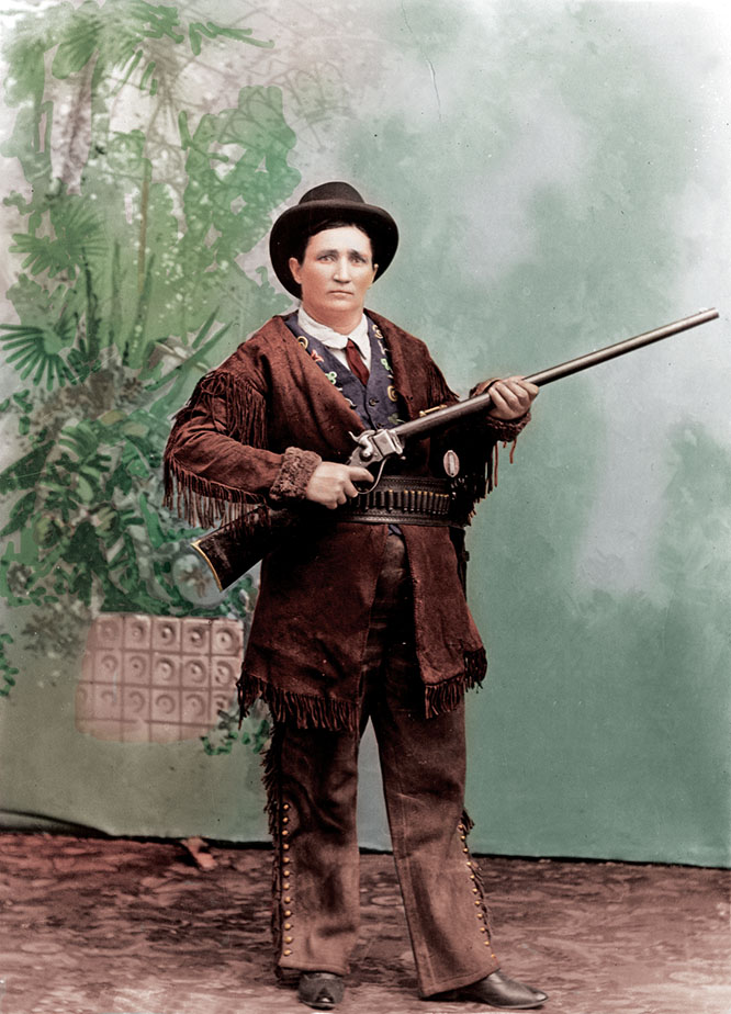 Photographer Unknown – Calamity Jane circa 1898 – Coloured by Loredana Crupi