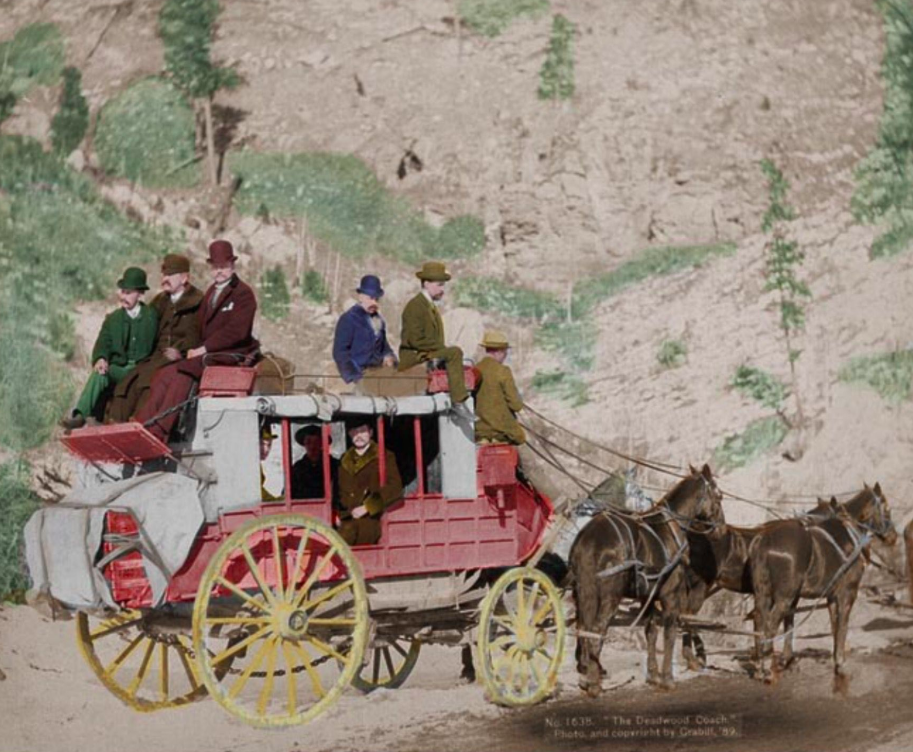 Deadwood, South Dakota Coach - 1889