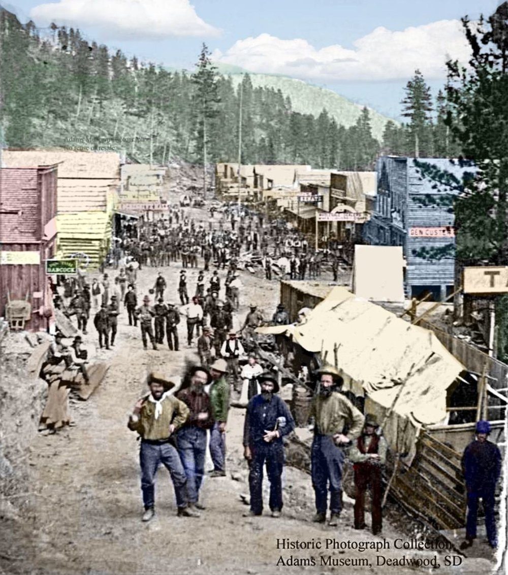 Deadwood, Dakota du Sud, rue principale 1876